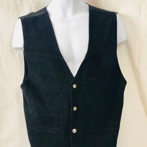 Sexy Men's Paragraff Clothing Exclusive Suede Vest